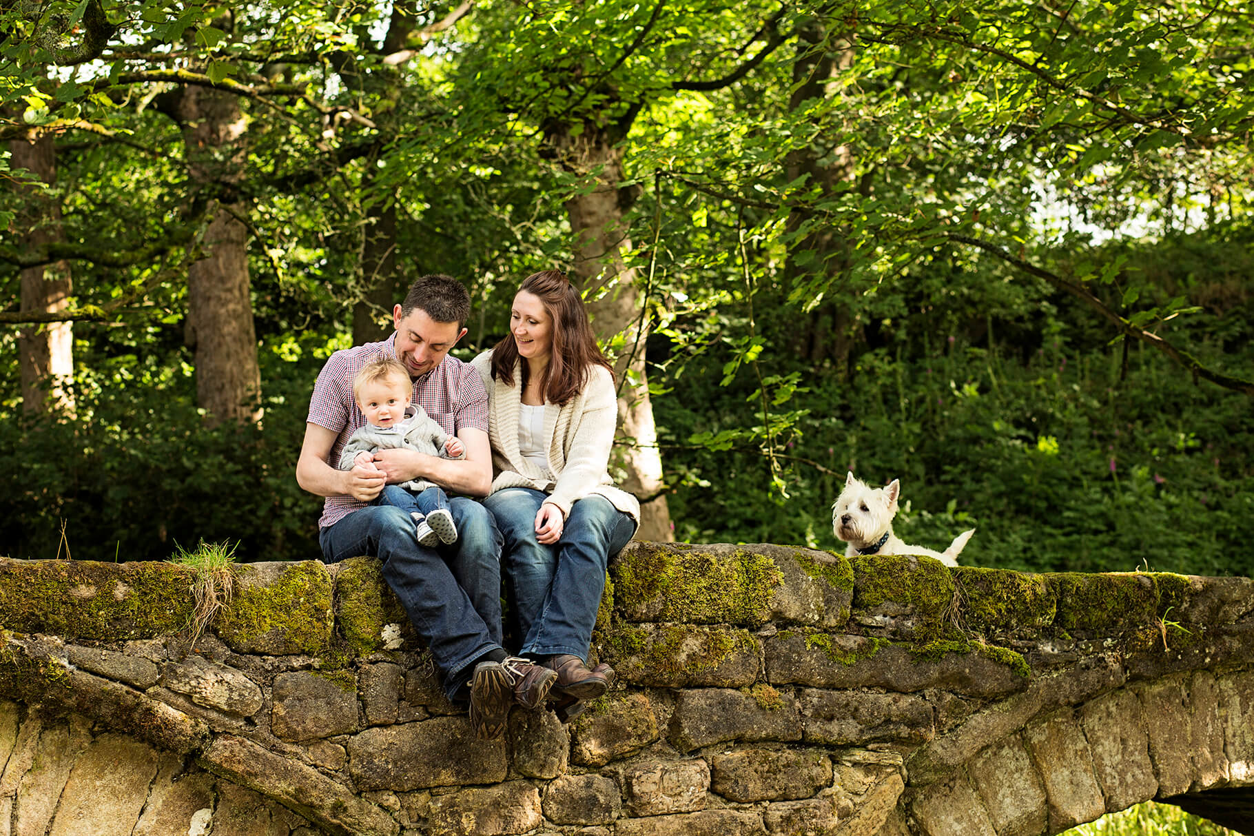 Pack Horse Bridge Wycollar Family Photo Shoot Lancashire