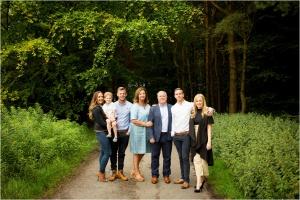 Family group photo woodland