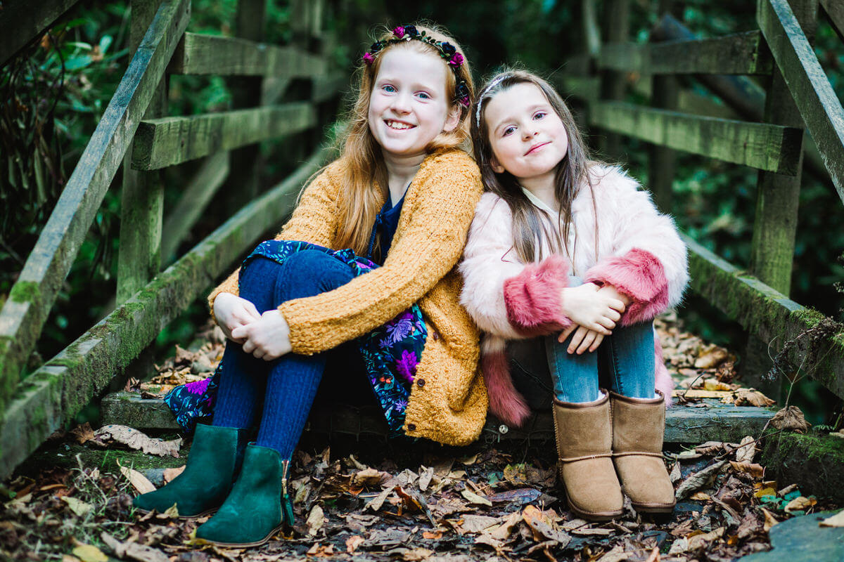 Childrens photo shoot at towneley park burnley