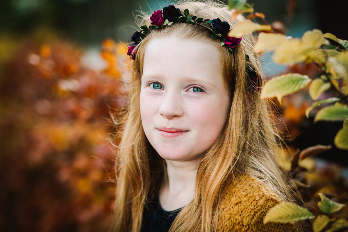 Autumn photo shoot at towneley park burnley